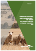 Cover image of the Sheep feed drought management guide