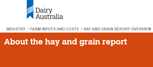 Decorative: Dairy Australia's Hay and Grain report image
